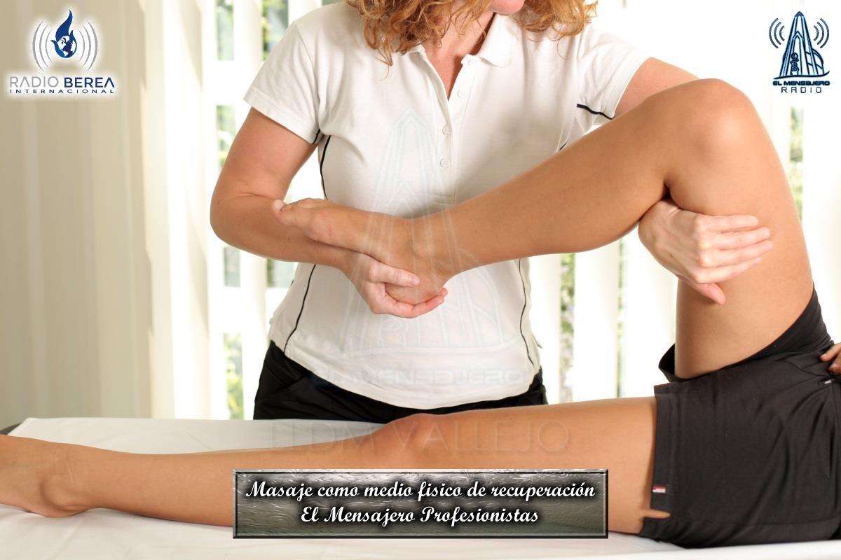 El Mensajero Profesionistas El masaje como medio fisico de recuperación